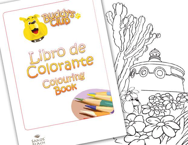 buddys club colouring book