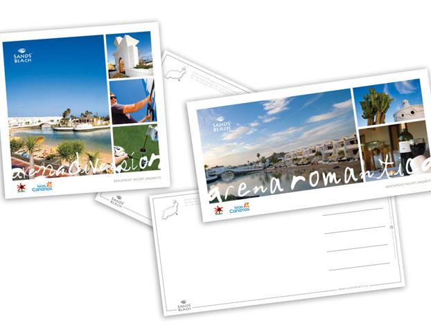 sandsbeach lanzarote postcard